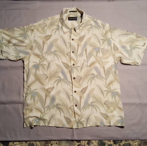 acb6c0e7 Ocean Pacific Shirts   100 Silk Xl Hawaiian Camp Shirt   Poshmark